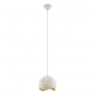 EGLO 97392 | Laurina Eglo függeszték lámpa 1x E27 fehér, narancs
