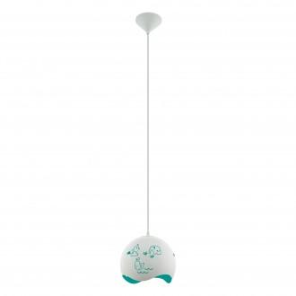 EGLO 97393 | Laurina Eglo függeszték lámpa 1x E27 fehér, kék