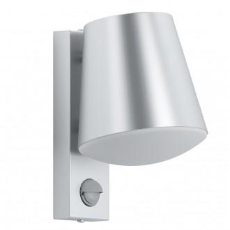 EGLO 97453 | Caldiero Eglo fali lámpa mozgásérzékelő 1x E27 IP44 nemesacél, rozsdamentes acél, fehér