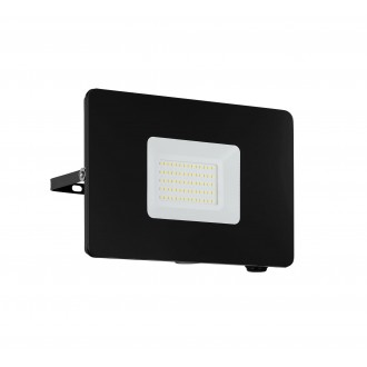 EGLO 97458 | Faedo Eglo fényvető lámpa négyzet elforgatható alkatrészek 1x LED 4800lm 4000K IP65 fekete, áttetsző