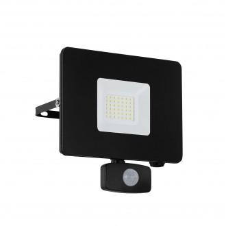 EGLO 97462 | Faedo Eglo fényvető lámpa mozgásérzékelő, fényérzékelő szenzor - alkonykapcsoló elforgatható alkatrészek 1x LED 2750lm 4000K IP44 fekete, átlátszó