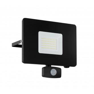 EGLO 97463 | Faedo Eglo fényvető lámpa mozgásérzékelő, fényérzékelő szenzor - alkonykapcsoló elforgatható alkatrészek 1x LED 4800lm 4000K IP44 fekete, átlátszó