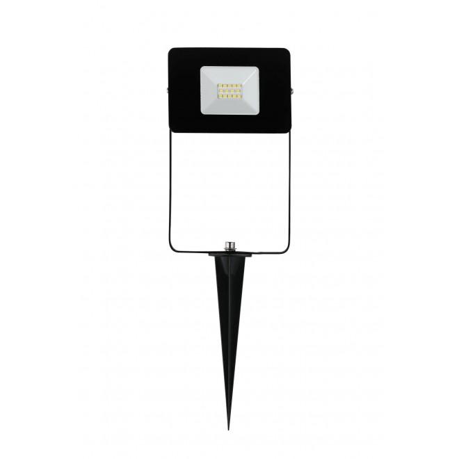 EGLO 97471 | Faedo Eglo fényvető leszúrható lámpa villásdugó - kapcsoló nélkül elforgatható alkatrészek 1x LED 900lm 4000K IP44 fekete, áttetsző