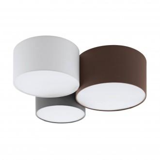 EGLO 97479 | Pastore Eglo mennyezeti lámpa 3x E27 fehér, barna, szürke