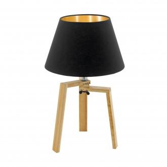EGLO 97515 | Chietino Eglo asztali lámpa 44cm vezeték kapcsoló 1x E27 fekete, arany, barna