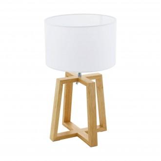 EGLO 97516 | Chietino-1 Eglo asztali lámpa 44cm vezeték kapcsoló 1x E27 króm, fehér, barna