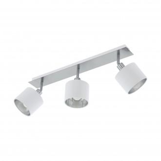 EGLO 97534 | Valbiano Eglo spot lámpa elforgatható alkatrészek 3x E14 matt nikkel, fehér, ezüst