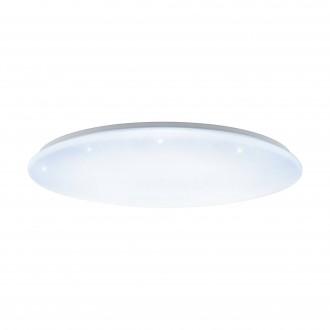 EGLO 97543 | GironS-LED Eglo mennyezeti lámpa kerek távirányító szabályozható fényerő, állítható színhőmérséklet 1x LED 7800lm 2700 <-> 5000K fehér, kristály hatás