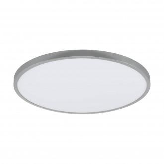EGLO 97552 | Fueva-1 Eglo mennyezeti LED panel kerek szabályozható fényerő 1x LED 3200lm 3000K ezüst, fehér