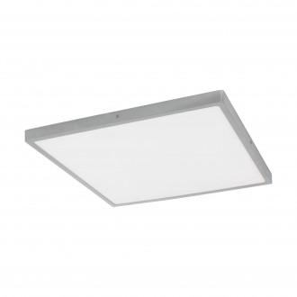 EGLO 97553 | Fueva-1 Eglo mennyezeti LED panel négyzet szabályozható fényerő 1x LED 3200lm 3000K ezüst, fehér