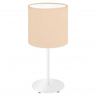 EGLO 97565 | Eglo-Pasteri-Pastel-A Eglo asztali lámpa 40cm vezeték kapcsoló 1x E14 pasztell sárgabarack, fehér