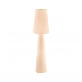 EGLO 97568 | Carpara Eglo álló lámpa 143cm taposókapcsoló 2x E27 pasztell sárgabarack