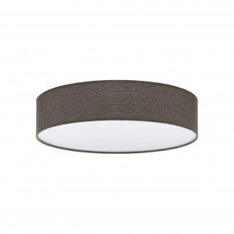 EGLO 97614 | Eglo-Pasteri-BR Eglo mennyezeti lámpa 3x E27 barna, fehér, nikkel