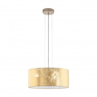 EGLO 97644 | Viserbella Eglo függeszték lámpa kerek 3x E27 pezsgő, arany