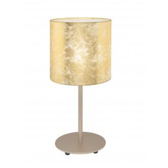EGLO 97646 | Viserbella Eglo asztali lámpa kerek 40cm vezeték kapcsoló 1x E27 pezsgő, arany