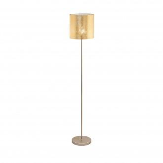 EGLO 97647 | Viserbella Eglo álló lámpa kerek 158,5cm taposókapcsoló 1x E27 pezsgő, arany