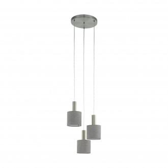 EGLO 97673 | Concessa Eglo függeszték lámpa 3x E27 matt nikkel, szürke