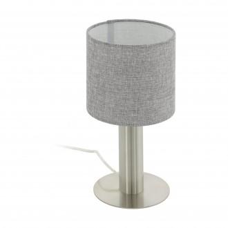 EGLO 97675 | Concessa Eglo asztali lámpa 30cm vezeték kapcsoló 1x E27 matt nikkel, szürke