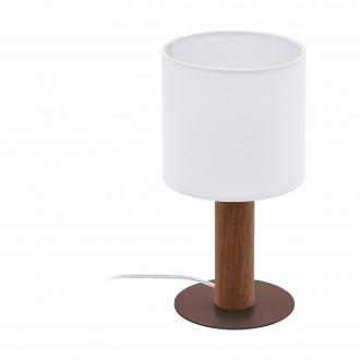 EGLO 97681 | Concessa Eglo asztali lámpa 30cm vezeték kapcsoló 1x E27 barna, fehér
