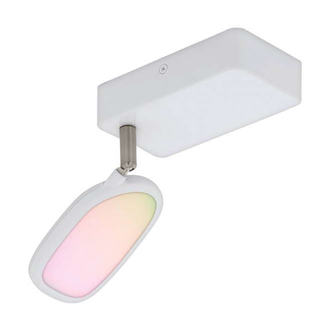 EGLO 97691   EGLO-Connect-Palombare Eglo spot okos világítás szabályozható fényerő, állítható színhőmérséklet, színváltós, elforgatható alkatrészek 1x LED 600lm 2700 <-> 6500K fehér
