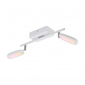 EGLO 97692 | EGLO-Connect-Palombare Eglo spot okos világítás szabályozható fényerő, állítható színhőmérséklet, színváltós, elforgatható alkatrészek 2x LED 1200lm 2700 <-> 6500K fehér