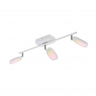 EGLO 97693 | EGLO-Connect-Palombare Eglo spot okos világítás szabályozható fényerő, állítható színhőmérséklet, színváltós, elforgatható alkatrészek 3x LED 1800lm 2700 <-> 6500K fehér