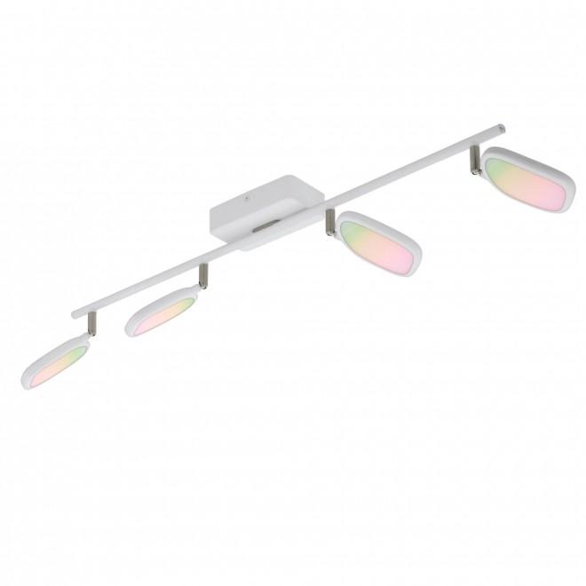 EGLO 97694   EGLO-Connect-Palombare Eglo spot okos világítás szabályozható fényerő, állítható színhőmérséklet, színváltós, elforgatható alkatrészek 4x LED 2400lm 2700 <-> 6500K fehér