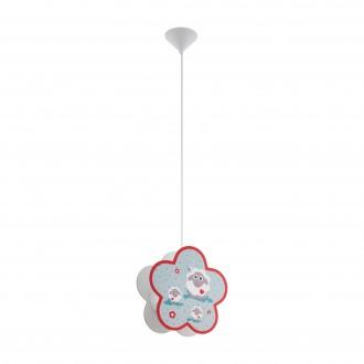 EGLO 97706 | Lalelu Eglo függeszték lámpa 1x E27 fehér, színes
