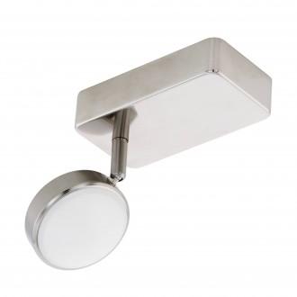 EGLO 97714 | EGLO-Connect-Corropoli Eglo spot okos világítás szabályozható fényerő, állítható színhőmérséklet, színváltós, elforgatható alkatrészek 1x LED 600lm 2700 <-> 6500K matt nikkel, fehér