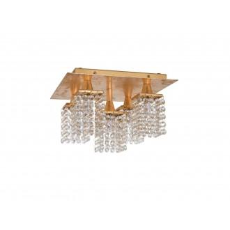 EGLO 97721 | Pyton-Gold Eglo mennyezeti lámpa négyzet 5x G9 1800lm 3000K arany, átlátszó
