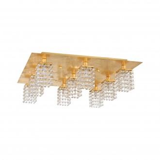 EGLO 97722 | Pyton-Gold Eglo mennyezeti lámpa négyzet 9x G9 3240lm 3000K arany, átlátszó