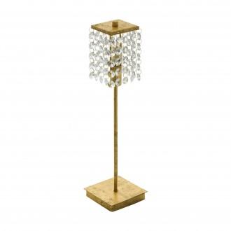 EGLO 97725 | Pyton-Gold Eglo asztali lámpa 37,5cm vezeték kapcsoló 1x G9 360lm 3000K arany, átlátszó