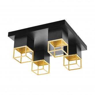 EGLO 97731 | Montebaldo Eglo mennyezeti lámpa 4x GU10 1600lm 3000K fekete, arany
