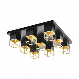 EGLO 97732 | Montebaldo Eglo mennyezeti lámpa 9x GU10 3600lm 3000K fekete, arany