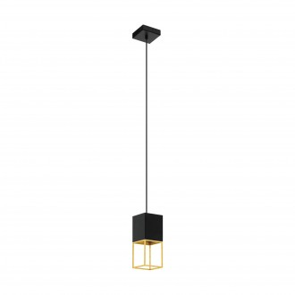 EGLO 97733 | Montebaldo Eglo függeszték lámpa 1x GU10 400lm 3000K fekete, arany