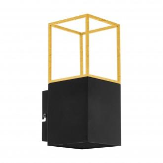 EGLO 97735 | Montebaldo Eglo fali lámpa 1x GU10 400lm 3000K fekete, arany