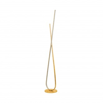 EGLO 97747 | Miraflores Eglo álló lámpa 141cm taposókapcsoló 1x LED 3200lm 3000K arany, fehér