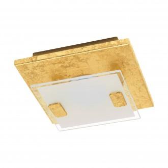 EGLO 97757 | Vicaro-1 Eglo fali, mennyezeti lámpa négyzet 1x LED 180lm 3000K matt arany, fehér, áttetsző