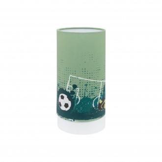 EGLO 97763 | Tabara Eglo asztali lámpa henger 25,5cm vezeték kapcsoló 1x LED 540lm 3000K fehér, zöld, fekete