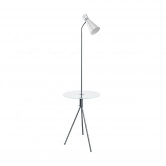 EGLO 97772 | Policara Eglo álló lámpa 158,5cm kapcsoló 1x E27 matt nikkel, fehér, áttetsző