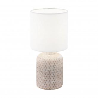 EGLO 97773 | Bellariva Eglo asztali lámpa 32cm vezeték kapcsoló 1x E14 krémszín, fehér