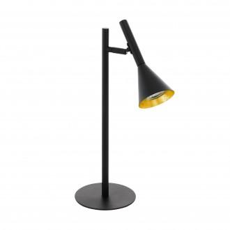 EGLO 97805 | Cortaderas Eglo asztali lámpa 44,5cm vezeték kapcsoló 1x GU10 400lm 3000K fekete, arany