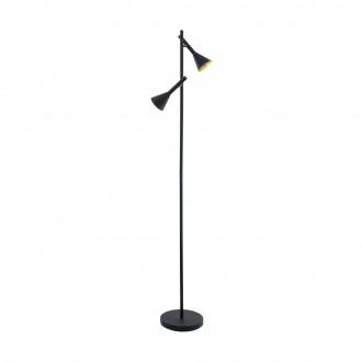 EGLO 97806 | Cortaderas Eglo álló lámpa 144,5cm taposókapcsoló elforgatható alkatrészek 2x GU10 800lm 3000K fekete, arany