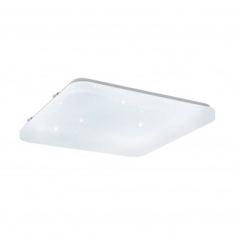 EGLO 97882 | Frania-S Eglo fali, mennyezeti lámpa négyzet 1x LED 2000lm 3000K fehér, kristály hatás