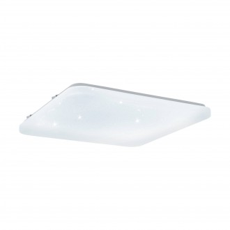 EGLO 97883 | Frania-S Eglo mennyezeti lámpa négyzet 1x LED 3900lm 3000K fehér, kristály hatás