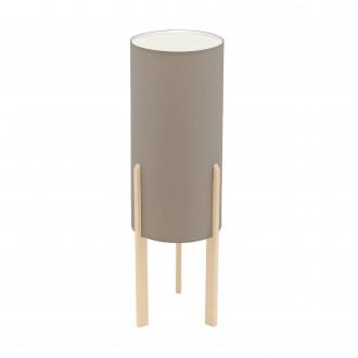 EGLO 97894 | Campodino Eglo asztali lámpa 50cm vezeték kapcsoló 1x E27 juhar, taupe