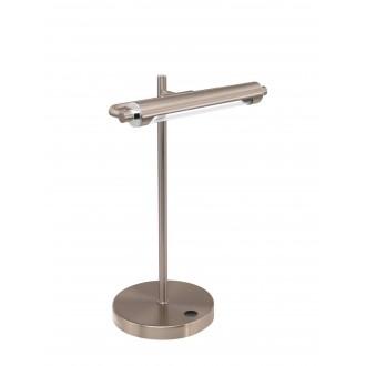 EGLO 97913 | Casamarte Eglo asztali lámpa 35,5cm fényerőszabályzós érintőkapcsoló szabályozható fényerő 1x LED 450lm 3000K matt nikkel