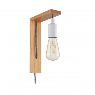 EGLO 97916   Tocopilla Eglo falikar lámpa vezeték kapcsoló 1x E27 barna, fehér