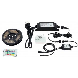 EGLO 97929 | Led-Stripes-Flex Eglo LED szalag lámpa távirányító dugaljjal ellátott 1x LED 600lm RGBK IP44 átlátszó