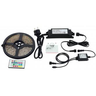 EGLO 97931 | Led-Stripes-Flex Eglo LED szalag lámpa távirányító dugaljjal ellátott 1x LED 1000lm RGBK IP44 átlátszó